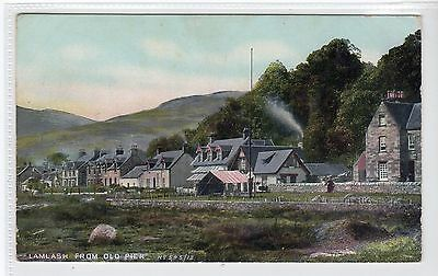 LAMLASH FROM OLD PIER: Isle of Arran postcard (C21512)