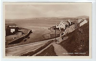 THE HARBOUR, PORT WILLIAM: Wigtownshire postcard (C21245)