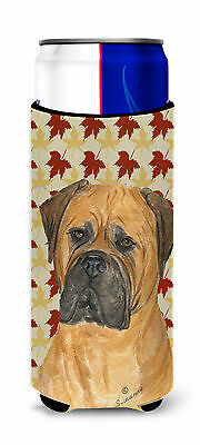 Bullmastiff Fall Leaves Portrait Ultra Beverage Insulators for slim cans