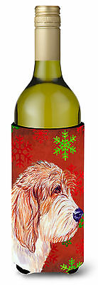 Petit Basset Griffon Vendeen Snowflake Christmas Wine Bottle Beverage Insulator