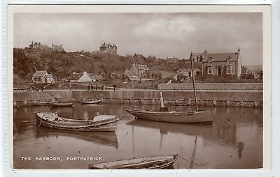 THE HARBOUR, PORTPATRICK: Wigtownshire postcard (C21252)