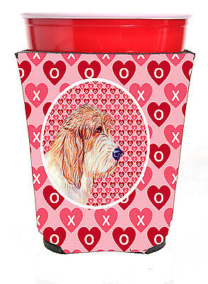 Petit Basset Griffon Vendeen Valentine's Love and Hearts Red Solo Cup Beverage I