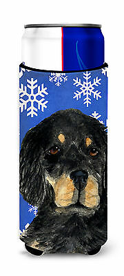 Gordon Setter Winter Snowflakes Holiday Ultra Beverage Insulators for slim cans