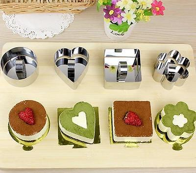 8 PCS Star Heart Flower Cookie Biscuit Baking Mould Stainless Steel Fruit Cutter