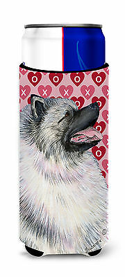 Keeshond Hearts Love and Valentine's Day Portrait Ultra Beverage Insulators for