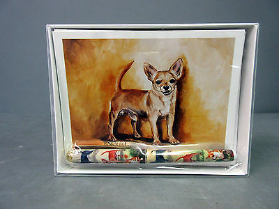 New Chihuahua Pet Dog 6 Notecards Envelopes and Pen Gift Set Chihuahuas Dogs