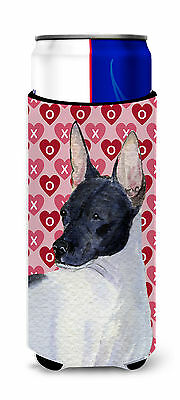Rat Terrier Hearts Love and Valentine's Day Portrait Ultra Beverage Insulators f