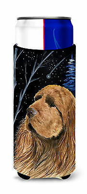 Starry Night Sussex Spaniel Ultra Beverage Insulators for slim cans