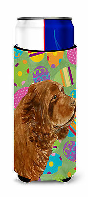 Sussex Spaniel Easter Eggtravaganza Ultra Beverage Insulators for slim cans