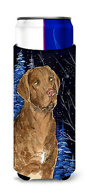 Starry Night Chesapeake Bay Retriever Ultra Beverage Insulators for slim cans