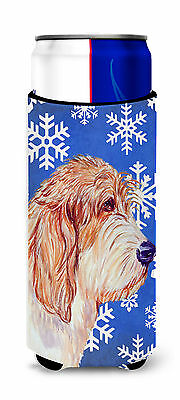 Petit Basset Griffon Vendeen Winter Snowflakes Holiday Ultra Beverage Insulators