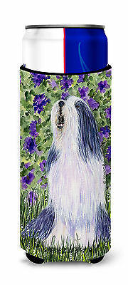 Bearded Collie Ultra Beverage Insulators for slim cans