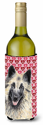 Belgian Tervuren Hearts  Valentine's Day Portrait Wine Bottle Beverage Insulator