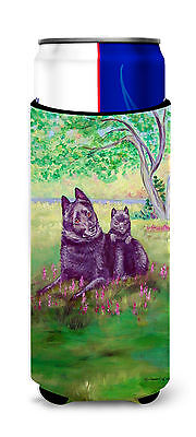 Schipperke and puppy Ultra Beverage Insulators for slim cans