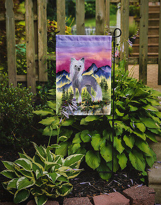 Carolines Treasures  SS8326GF Chinese Crested Flag Garden Size