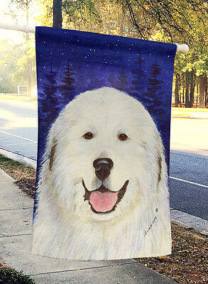 Carolines Treasures  SS8242CHF Great Pyrenees Flag Canvas House Size