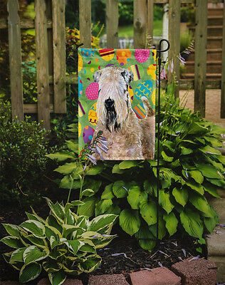 Wheaten Terrier Soft Coated Easter Eggtravaganza Flag Garden Size