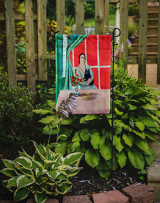 Carolines Treasures  7269GF Lady with her Schipperke Flag Garden Size
