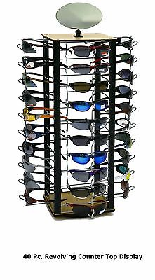 40 Pair Sunglasses Countertop Eyewear Spinner Display