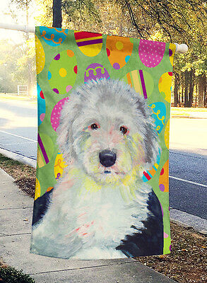 Old English Sheepdog Easter Eggtravaganza Flag Canvas House Size