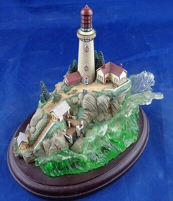 "Lenox ""Light at the Edge"" Lighthouse Scott Spicer Art Sculpture, Nautical"