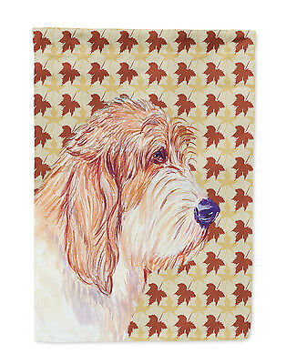 Petit Basset Griffon Vendeen Fall Leaves Portrait Flag Garden Size