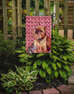 Brussels Griffon Hearts Love and Valentine's Day Portrait Flag Garden Size