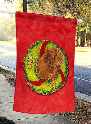 Carolines Treasures  SS4197CHF Sussex Spaniel Flag Canvas House Size
