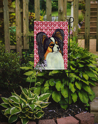 Papillon Hearts Love and Valentine's Day Portrait Flag Garden Size