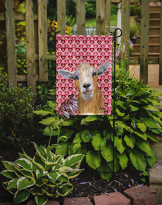 Carolines Treasures  RDR3026GF Hearts and Love Goat Flag Garden Size