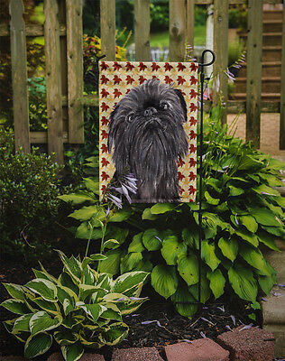 Carolines Treasures  SC9545GF Brussels Griffon Fall Leaves Flag Garden Size