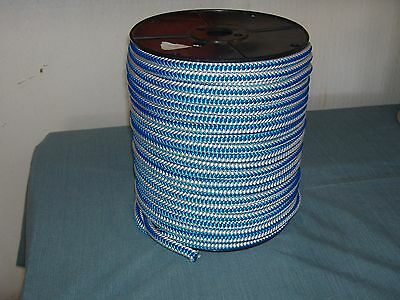 Arborist 12 strand polyester climbing rope 1/2x300 ft. blue white tree climbing