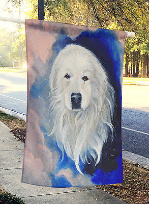 Carolines Treasures  VLM1013CHF Great Pyrenees  Flag Canvas House Size