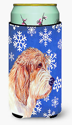 Petit Basset Griffon Vendeen Winter Snowflakes Holiday  Tall Boy Beverage Insula