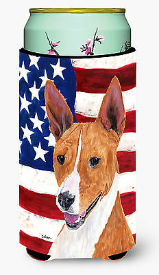 USA American Flag with Basenji  Tall Boy Beverage Insulator Beverage Insulator H