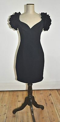 Vintage 80's CUE Design LBD with Sleeve Feature ,Cocktail,Party, Club
