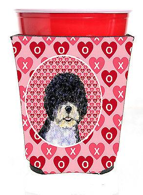 Portuguese Water Dog  Red Solo Cup Beverage Insulator Hugger