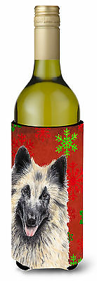 Belgian Tervuren  Snowflakes Holiday Christmas Wine Bottle Beverage Insulator Be