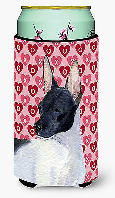 Rat Terrier Hearts Love and Valentine's Day Portrait  Tall Boy Beverage Insulato