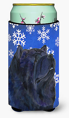 Chow Chow Winter Snowflakes Holiday  Tall Boy Beverage Insulator Beverage Insula