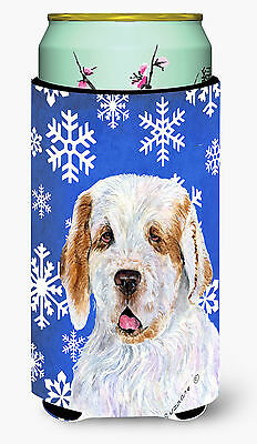 Clumber Spaniel Winter Snowflakes Holiday  Tall Boy Beverage Insulator Beverage