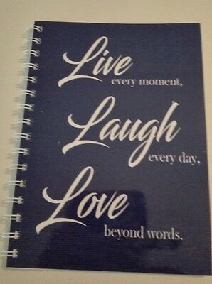 2017-2018  year diary blue live love and laugh quote A5