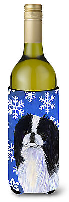Japanese Chin Winter Snowflakes Holiday Wine Bottle Beverage Insulator Beverage