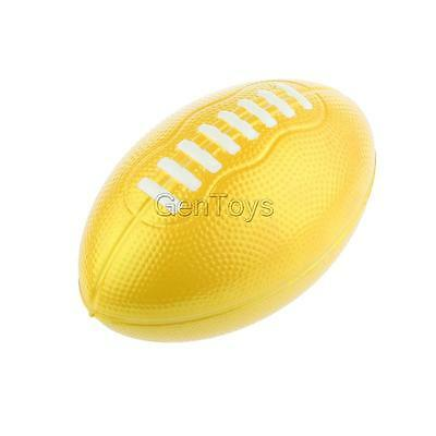 Yellow 7 inch PU Foam American Football Ball Kids Outdoor Games Sports Gift