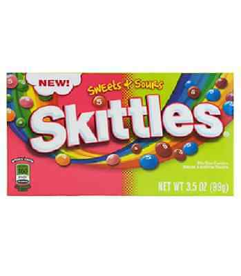 Skittles - Sweet and Sours Theatre Size Box