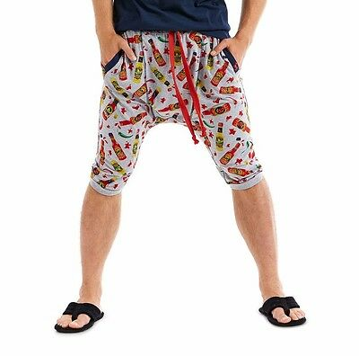 PETER ALEXANDER PJS Mens Hot Sauce Foodie Drop Crotch Shorts S/M/L NWT Cotton PJ