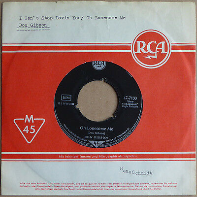 """7"""" Don Gibson - Oh Lonesome Me - DE 1957 - VG"""