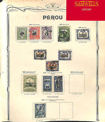 SS2269 1901-05 Peru. Original page from old-time collection