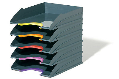 Durable 770557 Varicolor Letter Tray Set, Colour Coded & Stackable (5 Pack)