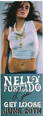 Nelly Furtado Get Loose RARE promo sticker '06